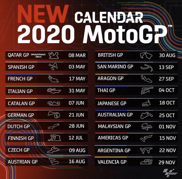 calendario nuovo motogp 2020