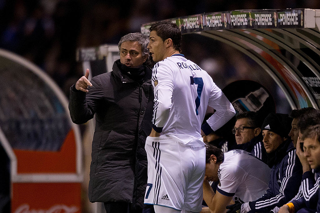 Cristiano Ronaldo e Josè Mourinho