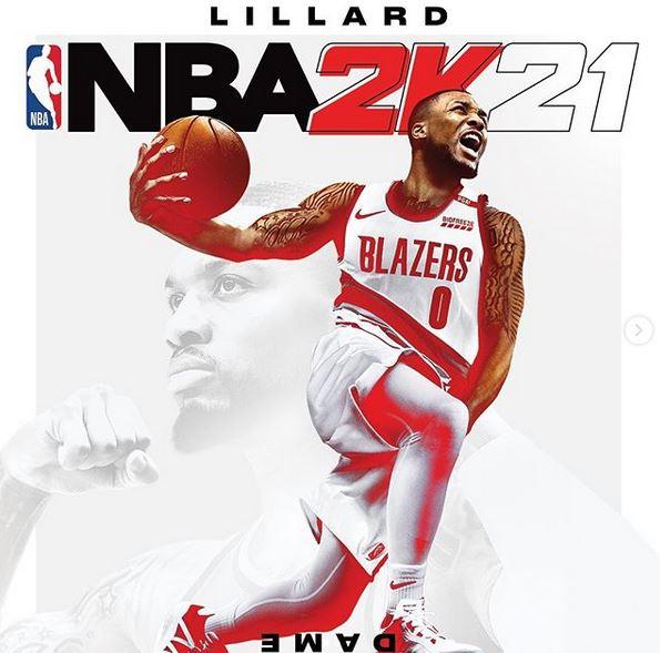 Damian Lillard copertinta NBA2K21