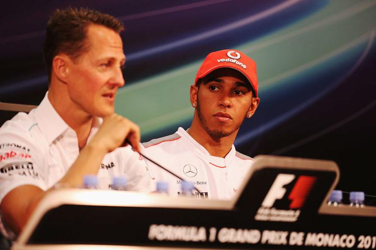 Hamilton e Schumacher