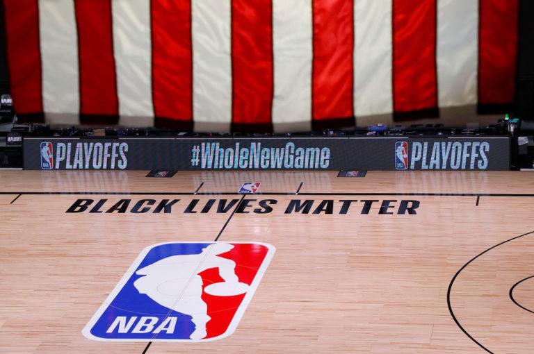 Logo NBA campo