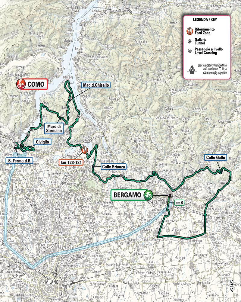 Il Lombardia percorso