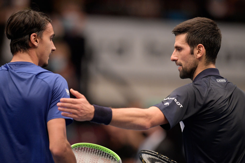 Sonego e Djokovic