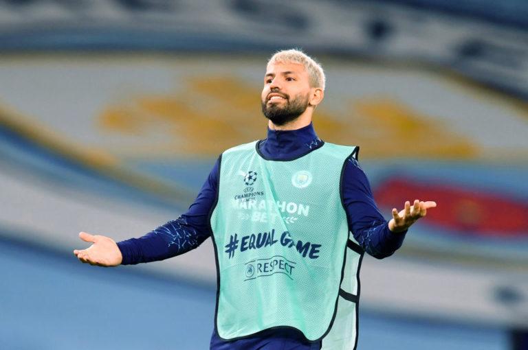 Sergio Aguero,  in scadenza di contratto il 30 giugno 2021 con il Manchester City (Pool/Getty Images)