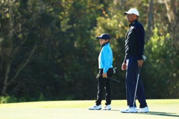 Tiger e Charlie Woods