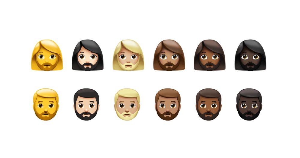 nuove emoji barba donna