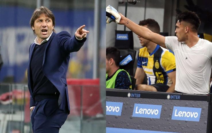Conte e Lautaro Martinez
