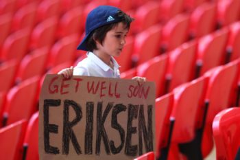 Tifoso di Eriksen