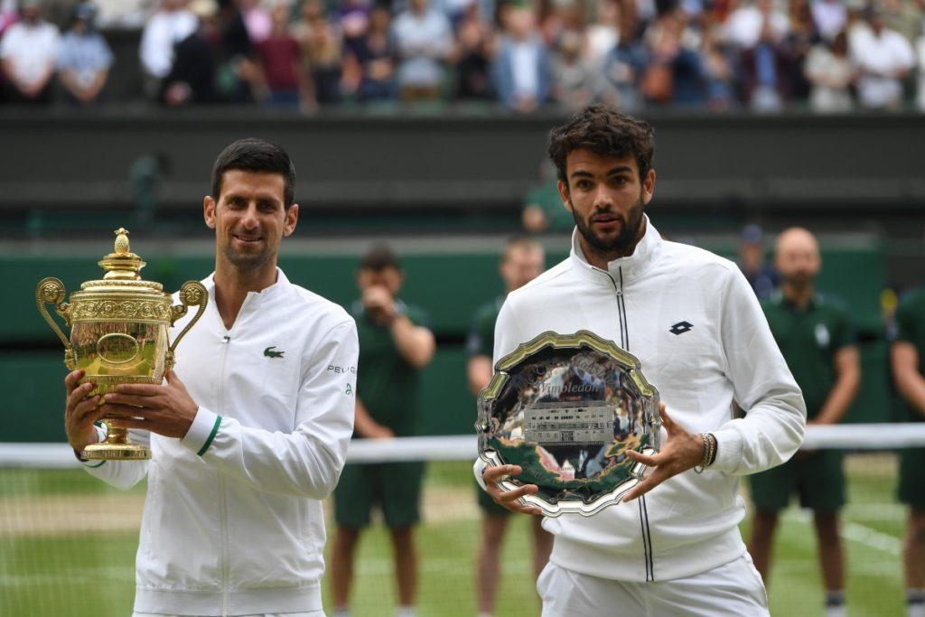 Berrettini e Djokovic