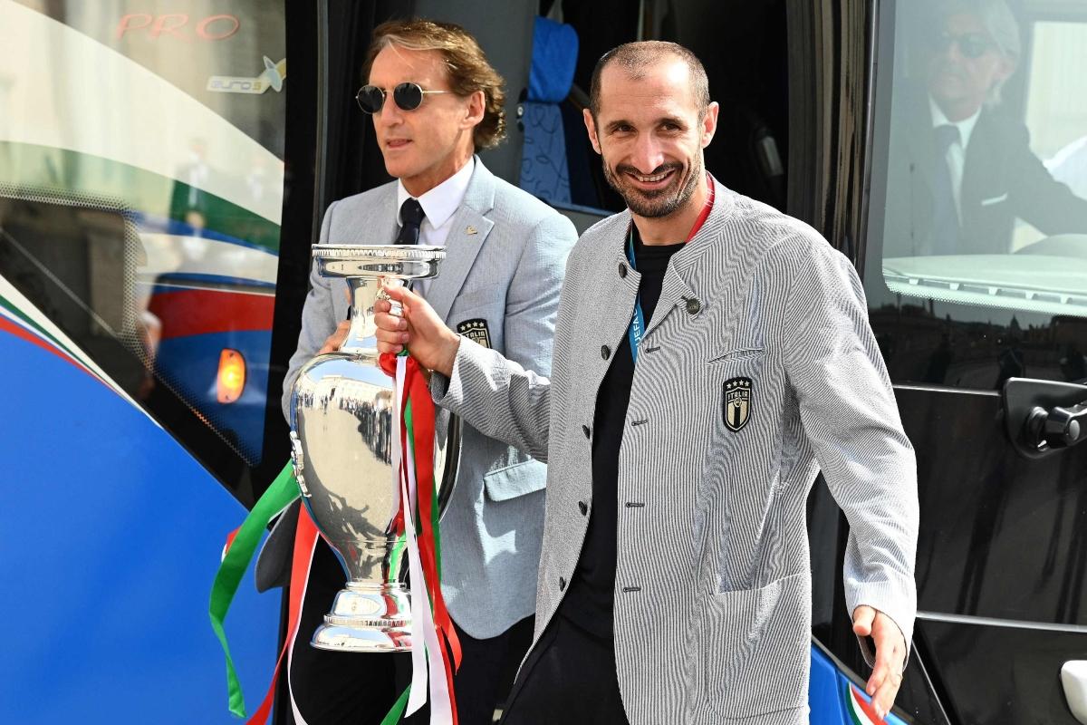 Chiellini e Mancini