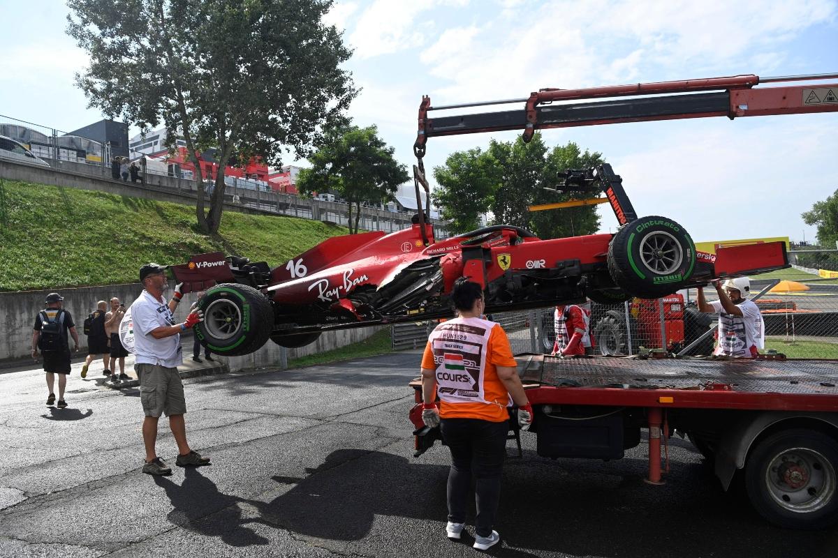 Ferrari di Leclerc
