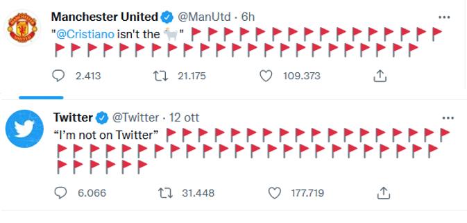 bandiere rosse twitter