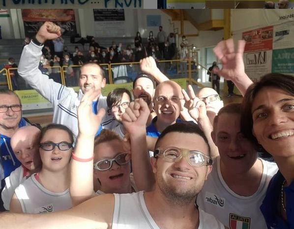 nazionale italiana basket sindrome di down